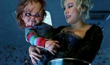Jennifer Tilly hangs out with Tiffany on Halloween!!