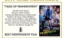 Don Glut's Tales of Frankenstein starring Mel Novak, Jim Tavare and more Wins Rondo Hatton Award!!