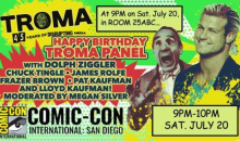 Troma and Dolph Ziggler at San Diego Comic-Con!!